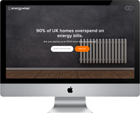 The energywiser site before we redesigned it.
